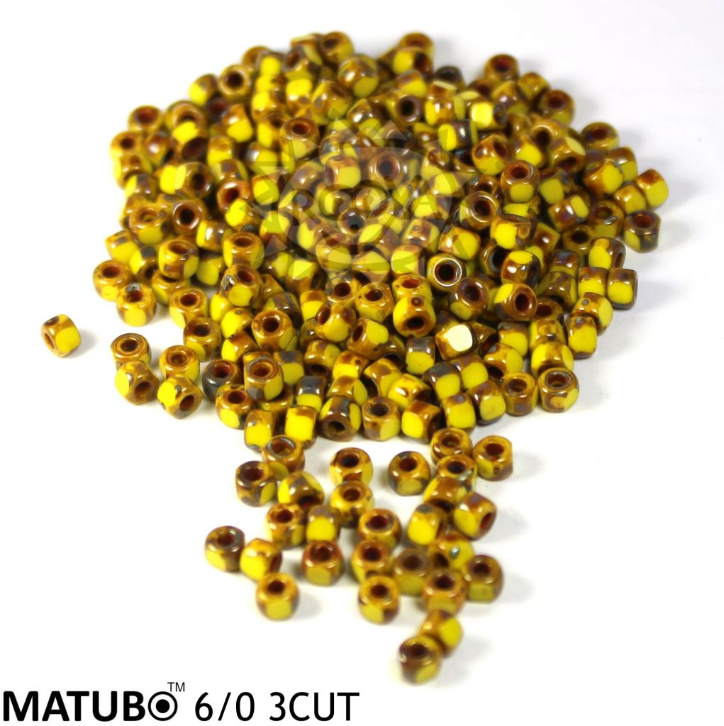 Matubo 3cut 6/0 limon tm. travertin