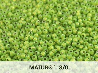 Matubo 8/0 green opal silver lined
