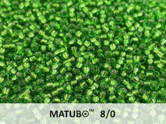 Matubo 8/0 chrysolite silver lined